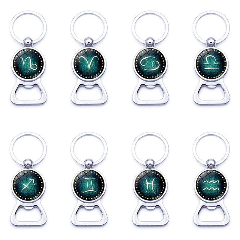 12 Constellation Anahtarlık Burç İşaret Şişe Açıcı Anahtarlık Anahtarlık Anahtarlık Moda Aksesuar Bırak Gemi 340115