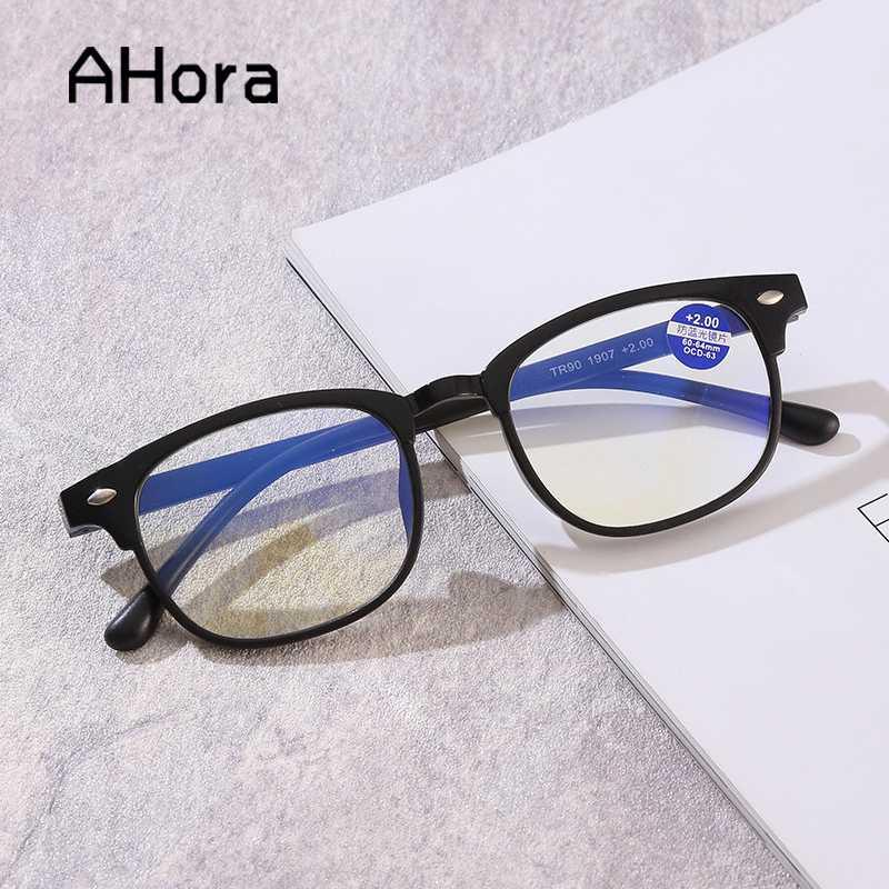 Ahora lectura presbicia Lentes para Mujeres Hombres Con dioptrías 1,0-4,0 nueva ronda gafas de lectura anti bloqueo de la luz azul
