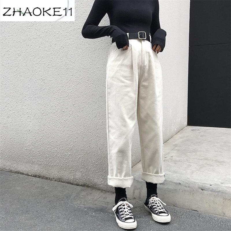 느슨한 높은 허리 얇은 바지 여성 2020 봄과 가을 직선 직선 패션 간단한 캐주얼 단색 바지 여성 야생 신선한