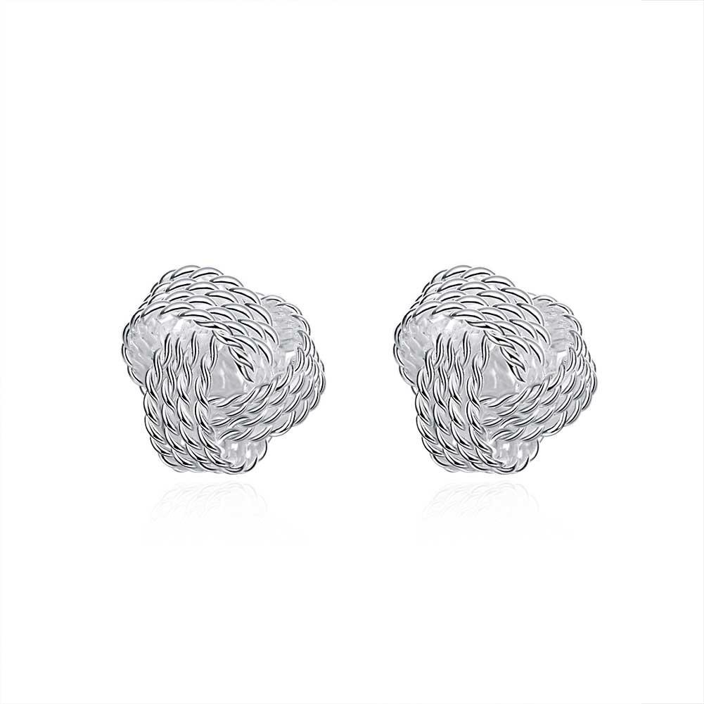 Plated Jewelry Delicate Knot Women's Stud Fashion Earrings Party Lovely Earrings Free ShippingJM002