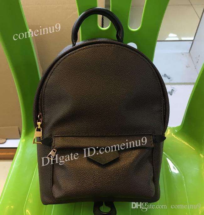 Venta al por mayor de calidad superior Mini mochila bolsa de mochila óxido cuero niños mochilas 41560 cuero genuino bolso de hombro mini mochila w bolsa de polvo