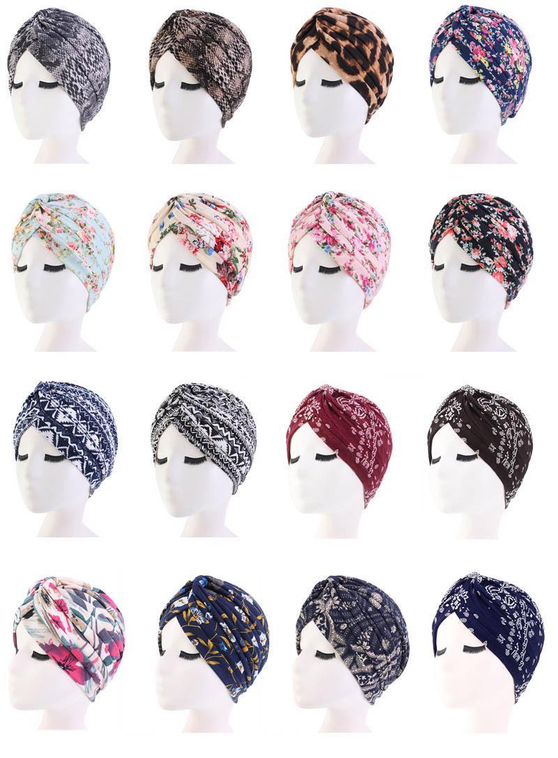 Neue Frauen Weicher Druck Baumwolle Damen Turban Mode Banadans Krebs Headwrap Chemo Cap-Kopf-Verpackungs-Haar-Zusätze Großhandel