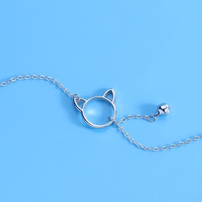 Qiao Lanxuan accessoires sterling imitation argent bracelet cloche de chat style coréen des femmes simples étudiants Mori mignon bracelet zzUig