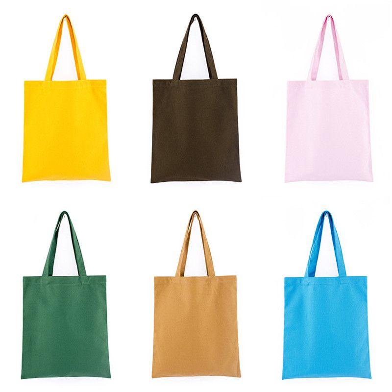 다채로운 빈 패턴 캔버스 쇼핑 가방 에코 재사용 접이식 숄더 가방 핸드백 토트 코튼 토트 백 도매 주문 로고 LX1245