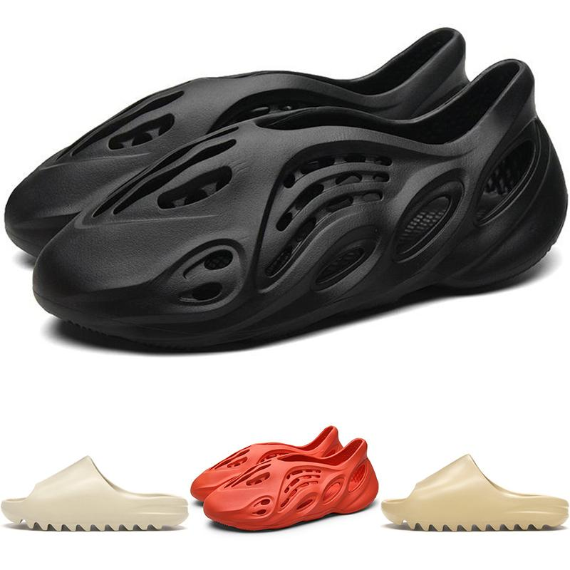 Nuovo Kanye West Schiuma Runner Mens Sandals Slipper Summer Beach infradito scorrere Deserto Bone resina Casual Shoes Loafer Donne Sneakers