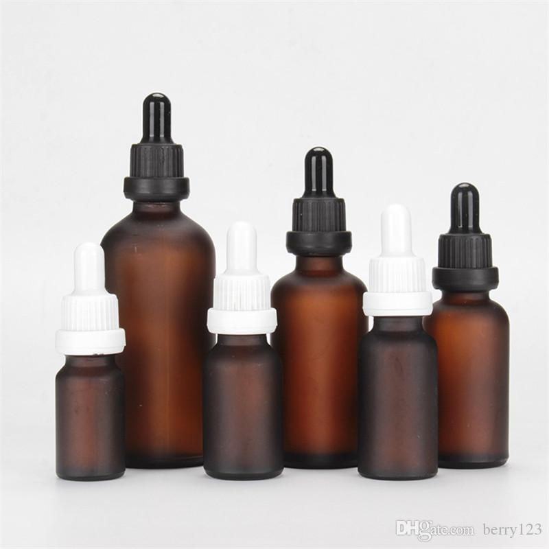 5ml 10ml 15ml 20ml 30ml 50ml 100ml Dropper Amber Glass Aromatherapy Liquid for Essential Massage Oil Pipette Refillable Bottles