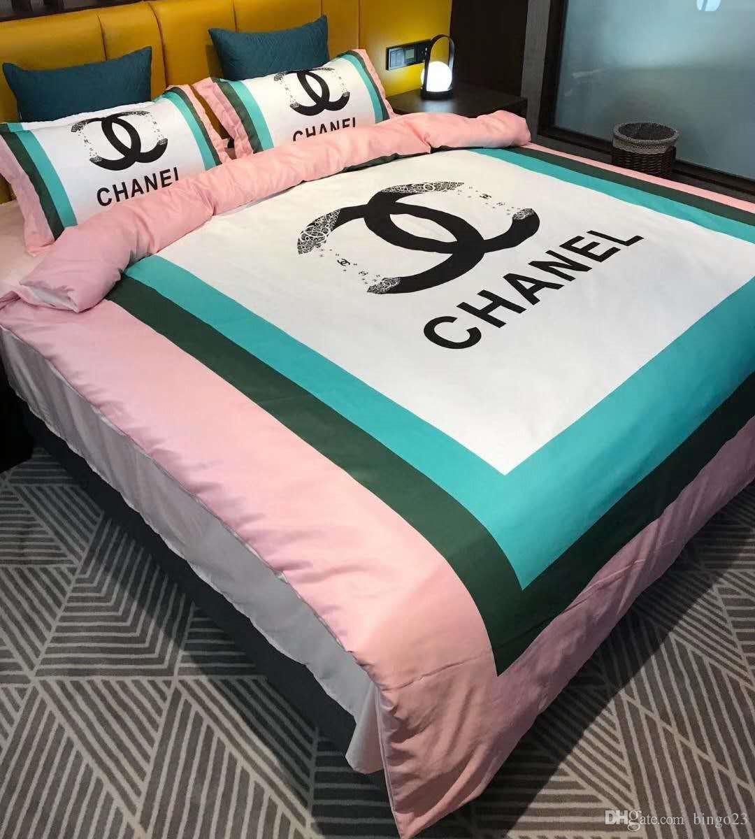 브랜드면 겨울 편지 시리즈 침대는 가구 커버 세트를 세트 침구 침대 세트 이불 커버 침대 시트 4 개를 리넨