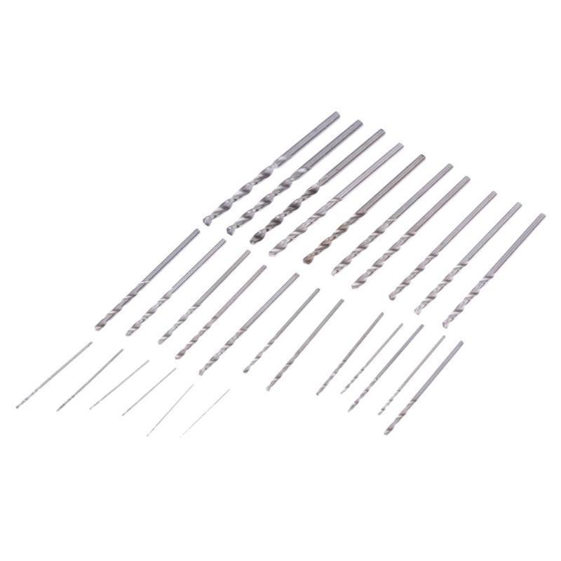 Drill Bits 28Pcs Mini Micro HSS4241 Twist Drill Bit Set Metric Sizes 0.3-3.0mm for PCB Crafts Thin Aluminum Iron Sheet Plastic
