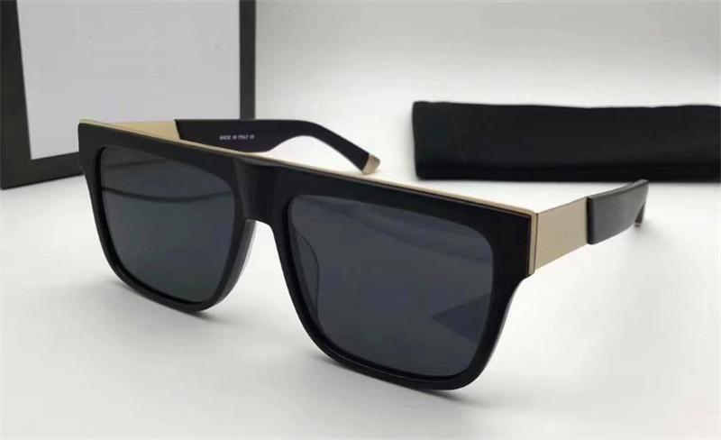 New Fashion Designer Damen Sonnenbrillen 0373 Quadrat schwarz einfachen Rahmen großzügigen Stil Top UV400 Schutz Brillen