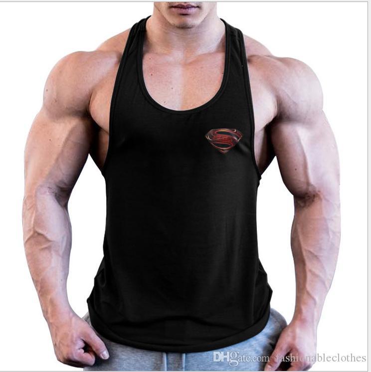 2019 New Fashion Golds palestre Canotta bodybuilding body stringer canotta uomo fitness maglia muscolare ragazzi gilet senza maniche Little S Printing