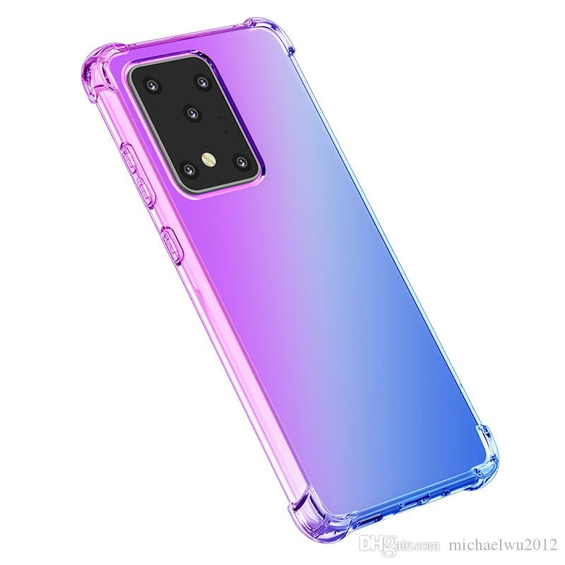 Air Bag Four Corners Reinforce Shockproof Phone Case For Samsung Galaxy S20 2020 Gradient Soft Silicon Galaxy S20 Plus Cover