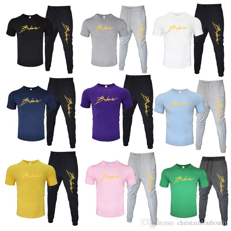 2020 Tracksuits Men Clothing Designer North Sweatshirt Pants+t shirt Black White Red Yellow Men Fashion Casual Clothes Sports Tracksuit