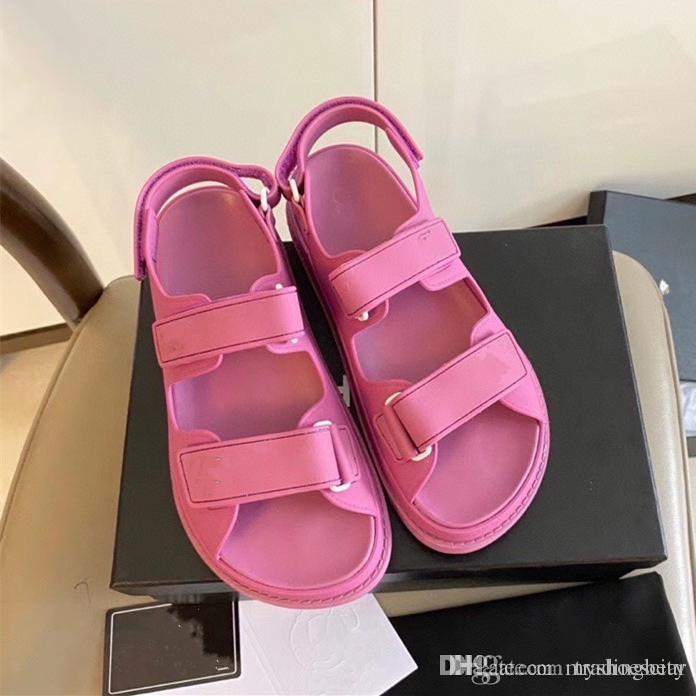 zapatos de marca Boutique mágicos de color rosa palo de zapatos de la playa del waterpoof casuales sandalias de diseño estilo de las mujeres de lujo de tamaño de zapatos de moda 35 a 41