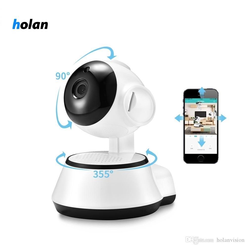 Holanvision HD 720P Mini IP Camera Wifi Camera Wireless P2P Security Surveillance Camera Night Vision IR Robot Baby Monitor Support 64G