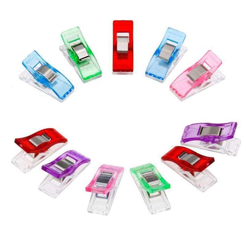 Переплет зажим Пластиковые Wonder зажимы держатель для DIY Лоскутная Ткань Лоскутное шитье Вязание Craft 8 цветов DHA21