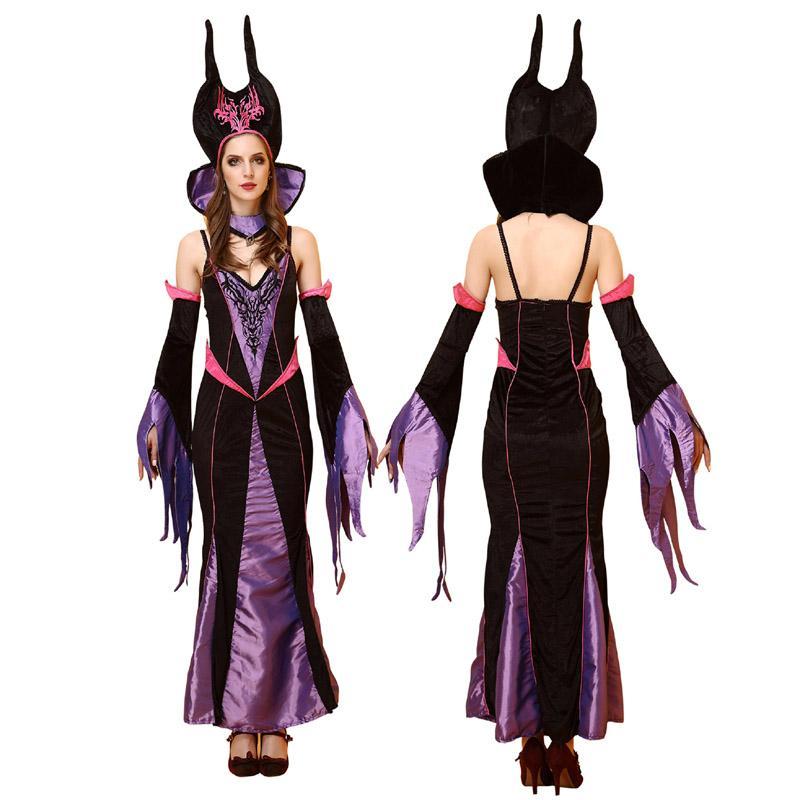 Black Evil Queen Short Cape Halloween UK Womens Ladies Fancy Dress Costume
