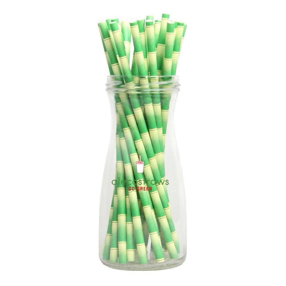 높은 품질 핫 세일 녹색 대나무 종이 빨 대 도매 환경 에코 마시는 빨 대 웨딩 키즈 생일 파티