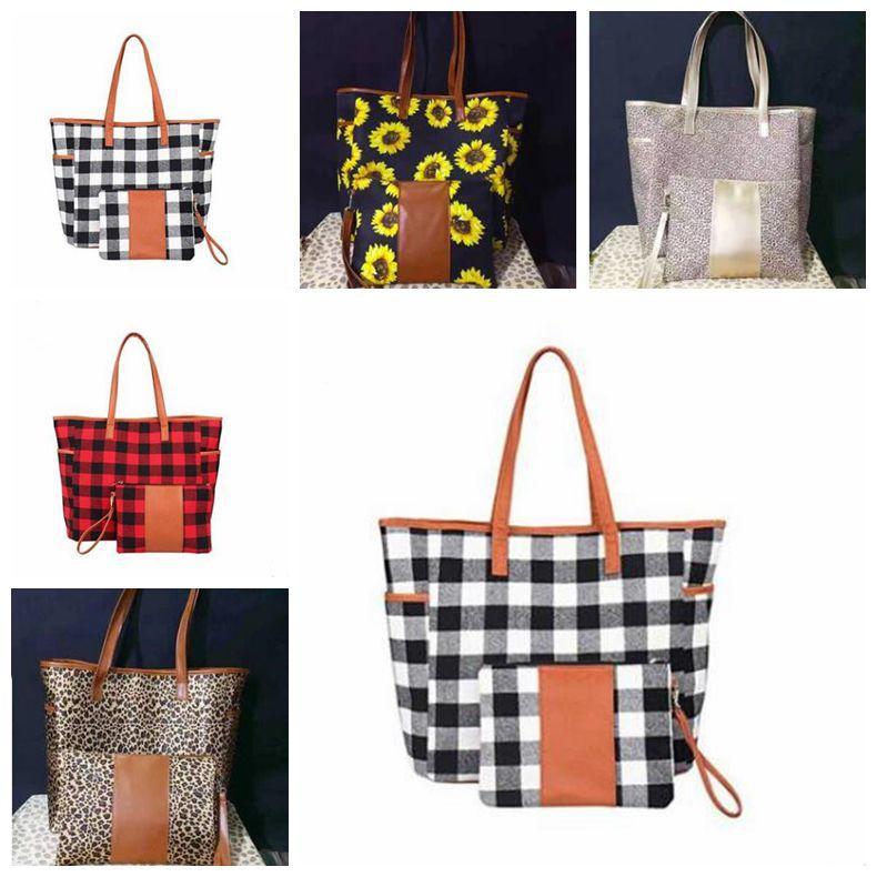 Buffalo Plaid Borse borsa rossa Nera Mostra Weekend Viaggi Borse a tracolla progettista Duffle Borse Girasole leopardo Totes borsa Portafoglio C7302