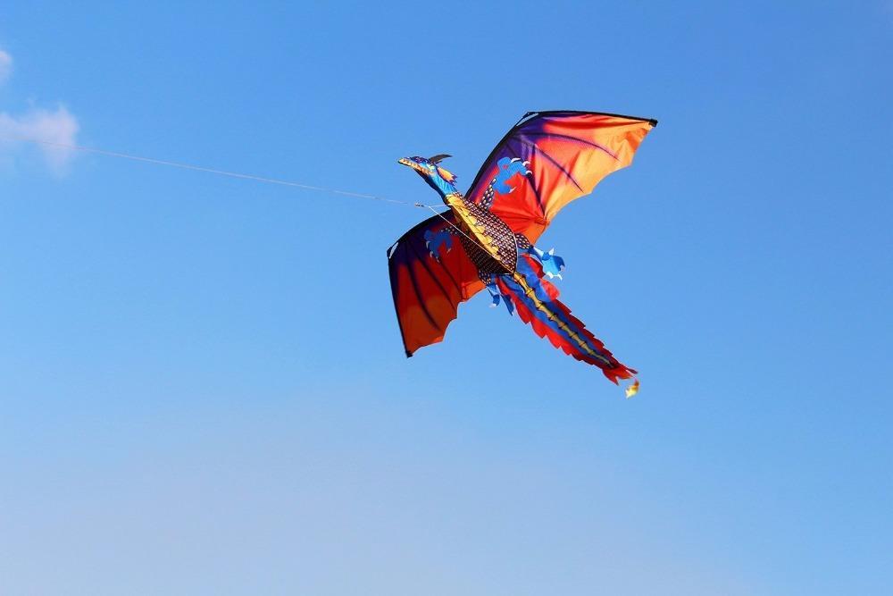 Nuovo di alta qualità classico drago Kite 140cm x 120 centimetri Linea Con Coda con manico e Linea Buone aquiloni Da Hengda
