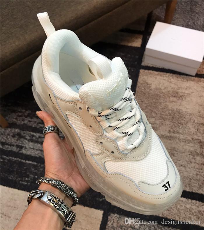 Erkekler Kadınlar Vintage Eski Büyükbaba Trainer Paris 2019 Kristal Alt Triple-S Tasarımcı Ayakkabı Lüks baba Ayakkabı Platformu Üçlü S Sneakers