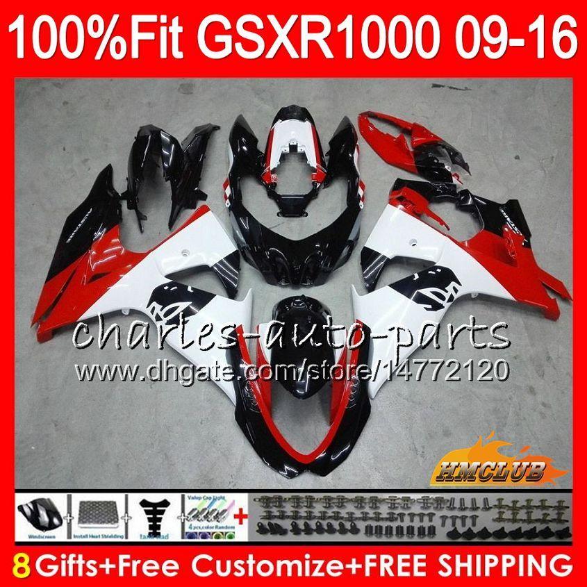 SUZUKI GSXR1000 용 주입 낙서 빨간색 신형 2009 2010 2011 2012 2014 2015 2016 16HC12 GSXR-1000 K9 GSXR 1000 09 10 11 12 13 15 16 페어링