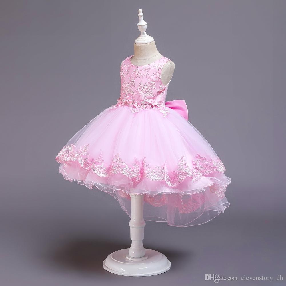 Girls summer 4 to 12 years tutu embroidered dress, ball grown flowers party clothes, kids & teenager boutique tulle clothing, R1AAX808DS-34