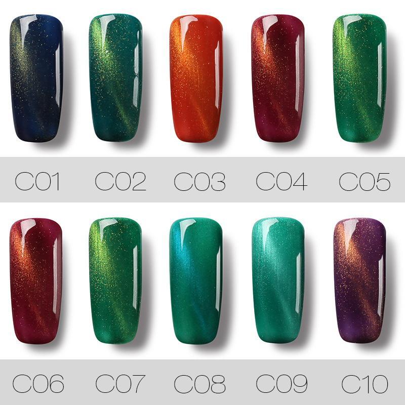 Профессиональный 7ML Cat Eye Nail Art Nail Гель-лак UV LED гель польский лак Quick Dry Top Coat смолы TSLM1