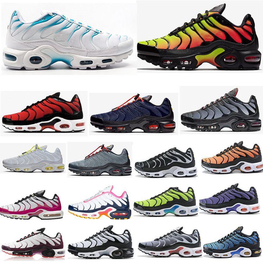 Kadınlar Erkekler TNS Turuncu mor pembe Altın Kadın Spor Eğitmenler Sneakers Man Chaussures Ayakkabı 36-46 için 2020 Tn Plus Ultra Se Koşu Ayakkabı