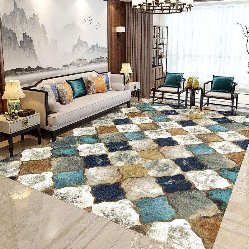 비 슬립 바닥 매트 직사각형 카펫 모로코 주머니 러그 침실 / 거실 / 식당 / 주방