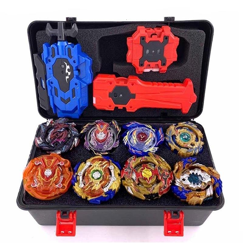 Beyblade Burst Bey Blade Toy Metal Funsion Bayblade Set Storage Box With Handle Launcher Plastic Box Toys For ChildrenMX190926