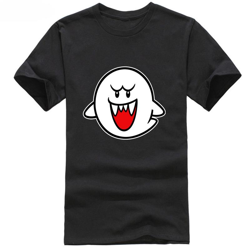Wholesale Discount Mario Boo Ghost Mens Graphic T Shirt Discout Hot New Fashion Top Free Shipping 2019 Officia