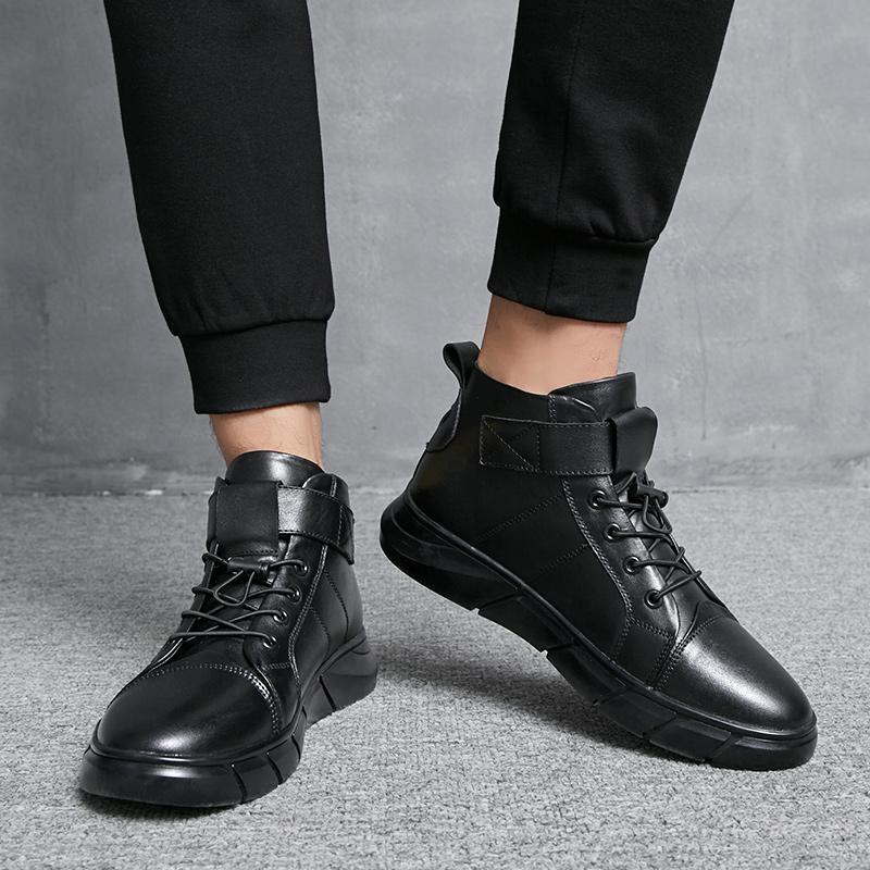2019 Erkekler Günlük Ayakkabılar Rahat Moda Düz Sneakers Erkek Ayakkabı Yetişkin Büyük Beden 38-48 Erkekler Casual Deri Flats% 2.808