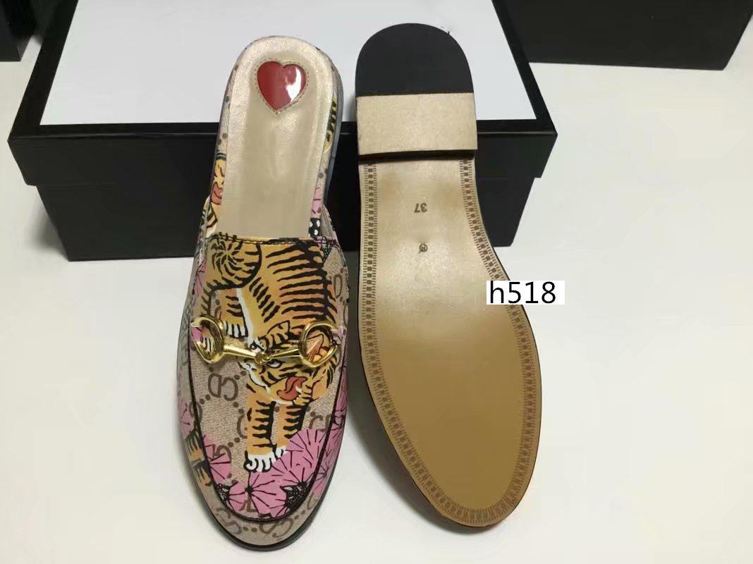Nueva venta mulas 423513 diseñador de Princetown hebilla de metal clásico resbaladiza zapatillas de playa suave amantes zapatillas Latest4