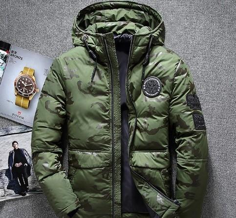 2019New зима теплая белая утка пуховик мужчины пиджаки толстый снег парки с капюшоном пальто мужской повседневная тепловой ветрозащитный пуховик мужчины