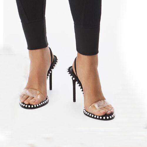 cristallo Nova impreziosito sandalo sandali di lusso di marca slingback 90 millimetri tacchi alti dei pattini di vestito formato 34-40 tradingbear