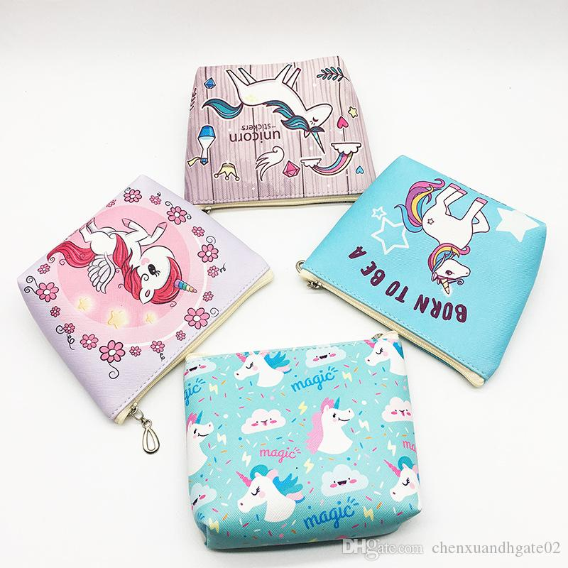 I Want It All Cute Unicorn PVC Zipped Girls Coin Purse