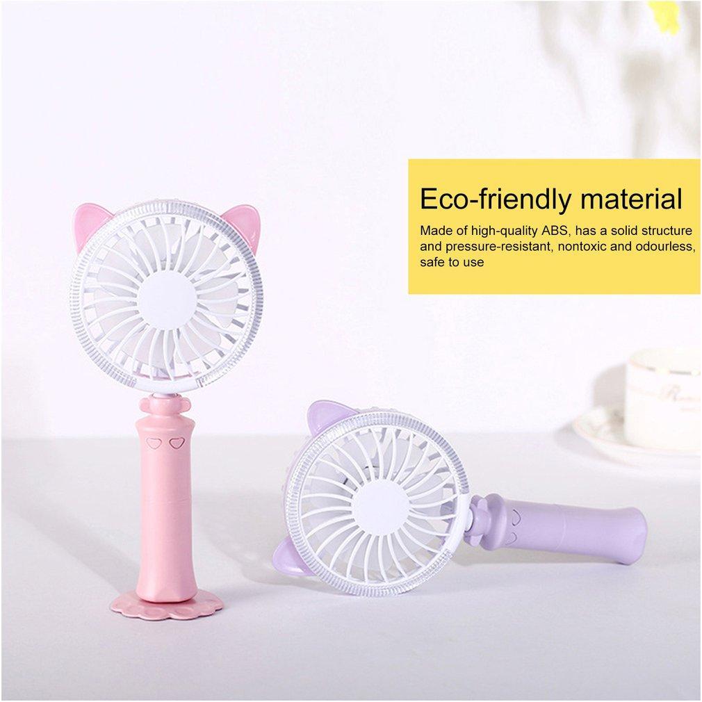 Mini portable ventilateur de refroidissement USB de charge Mini Bureau Ventilateur rechargeable ABS portable pour Bureau extérieur Voyage Ménage