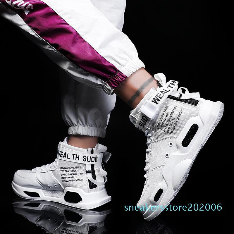 Homens Mulheres High-top Sneakers 2019 Hip Hop Estilo calçados casuais sapatos de caminhada homens vermelho verão Net 1 desenhador S06