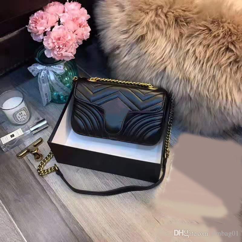 Pink sugao designer shoulder bags 2019 new fashion purses crossbody bag women chain bag hot sales high quality pu leather bag