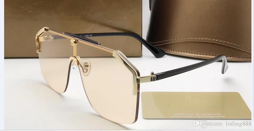 2019 Nouveau Luxe Mode Femmes Hommes Lunettes de soleil Mesdames Grand carré surdimensionné lunettes de soleil style audacieux cadre lunettes soleil femmes lunettes de soleil de marque