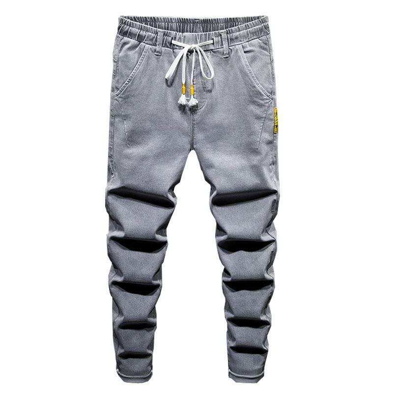 2020 Mens Jeans Denim Men Trousers New Slim Fit Casual Jeans Men Slim Elastic Waist Pants YJJ36
