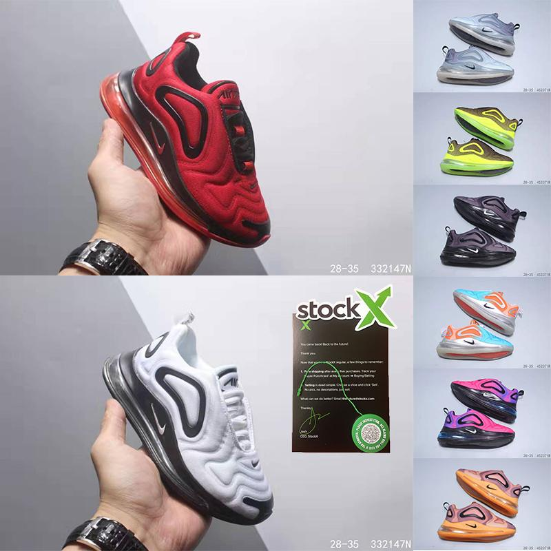 Air 720 kids Running Shoes Tripler White Black See Forest Electric Green Platinum Cosmic Obsidian Ghost Childrens Zoom Air Sports Trainers