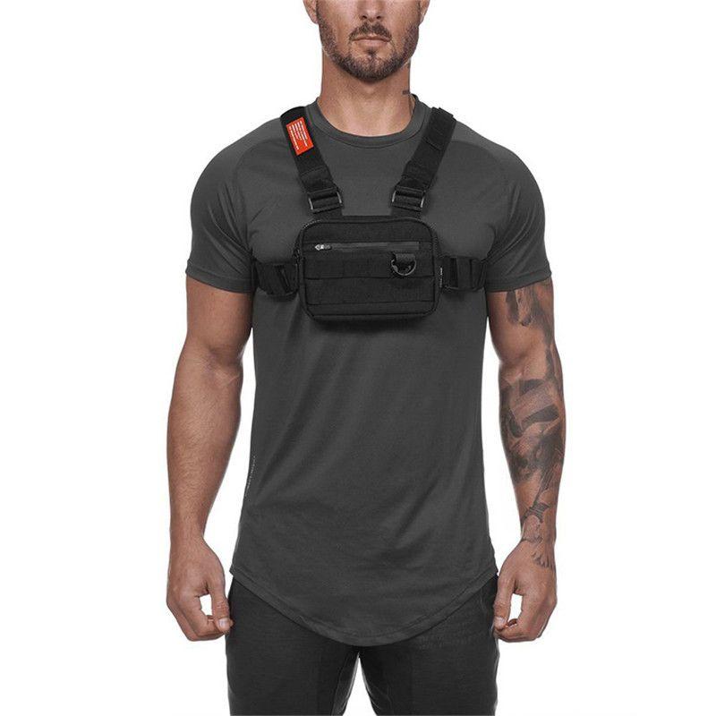 New Men Chest Rig Street wear Outdoor Sports Waist Bag Climbing Shoulder Bag Phone Money Belt Tactical Chest Bags