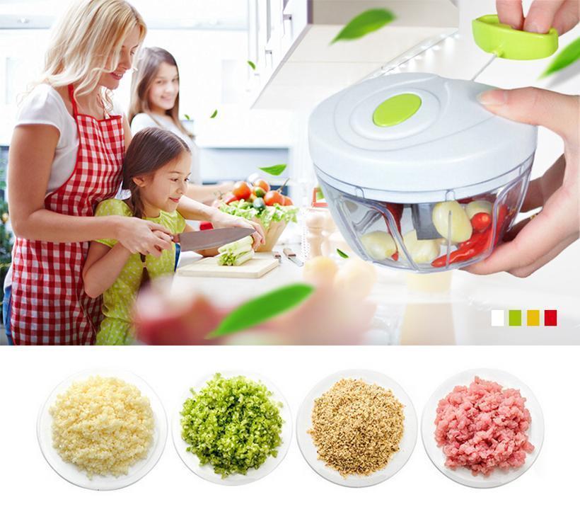 B Eco-Friendly Cuisine Outils multifonctions Chopper design Chopper ail coupe-légumes trancheuse fruits Outils manuel Hachoir à viande