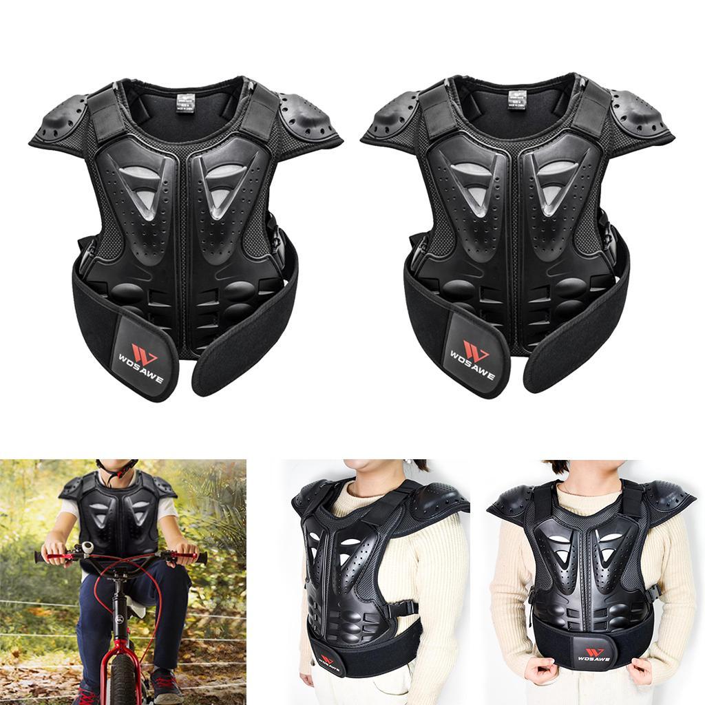 2PCS الأطفال صدر ظهر العمود الفقري حامي الصدرية الحرس الستر للالترابية دراجة التزلج