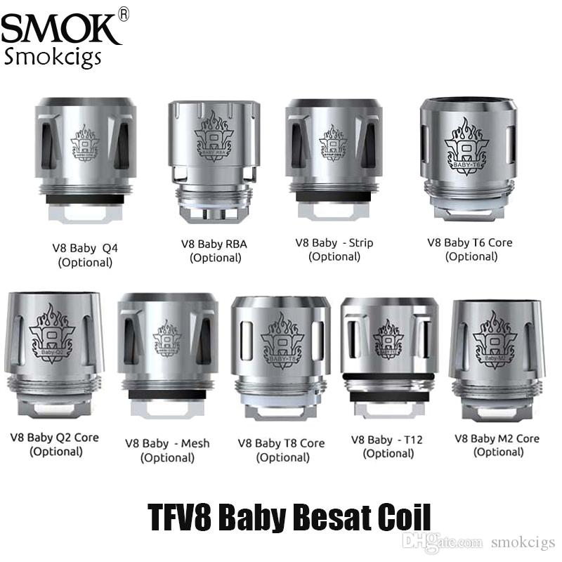 SMOK TFV8 Baby Coil 0.4ohm 0.6ohm V8 Baby Q2 M2 X4 T6 T8 T12 Core For TFV8 BABY Beast Tank Authentic