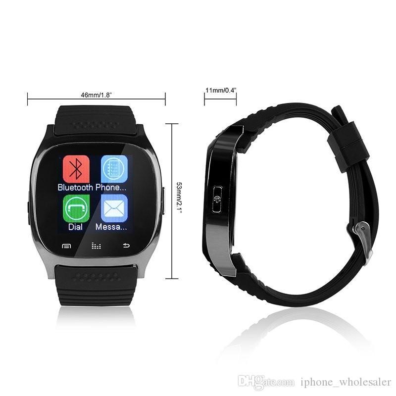 M26 Akıllı saat su geçirmez Bluetooth LED Alitmeter spor Izci Akıllı bilezik Müzik Çalar pedometre Akıllı kol saati Android iPhone için