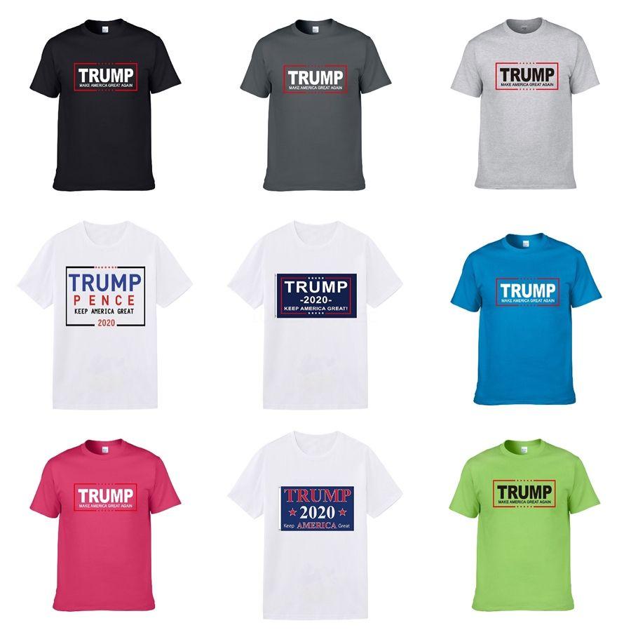 Trump muchachos del verano camiseta de algodón y de los años mujeres de la marca Trump diseñador de los hombres de la camiseta de Hip-Hop Graffiti amantes de manga corta Trump camiseta del tamaño extra grande