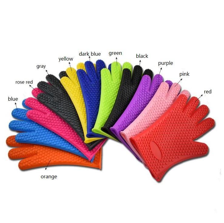 Толстые перчатки для духовки силиконовые перчатки микроволновая печь рукавицы нескользящие Барбекю гриль перчатки формы для выпечки кухня кулинария выпечки перчатки торт инструменты