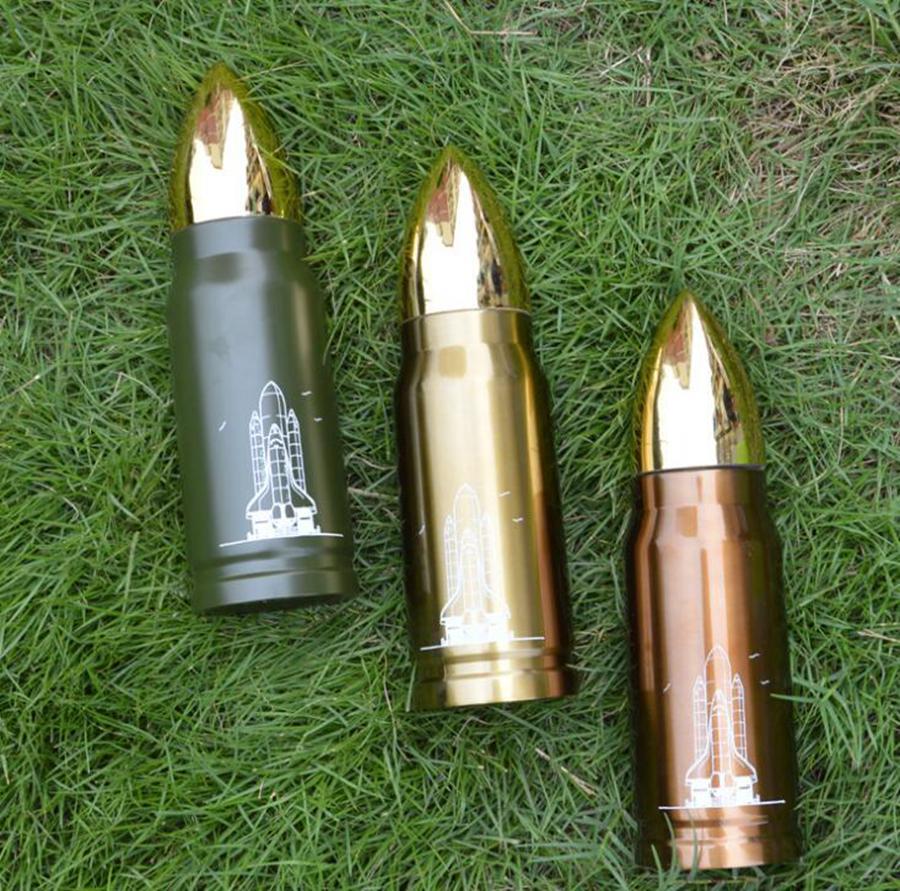 총알 진공 컵 350 ㎖ 500ML 여행 음료 병 스테인레스 스틸 보온병 플라스크 물 병 머그컵 OOA7350